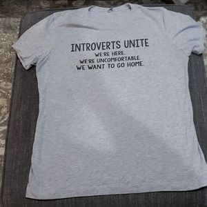Next Level Introverts Unite Gray TShirt